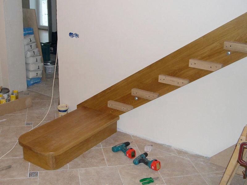 Лестница на тетивах своими руками фото